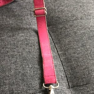 m0851 Bags - M0851 Hot pink genuine leather fanny pack